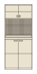 【直送】【代引不可】サカエ(SAKAE) ピットイン 900X650X2000 PN-H92PD