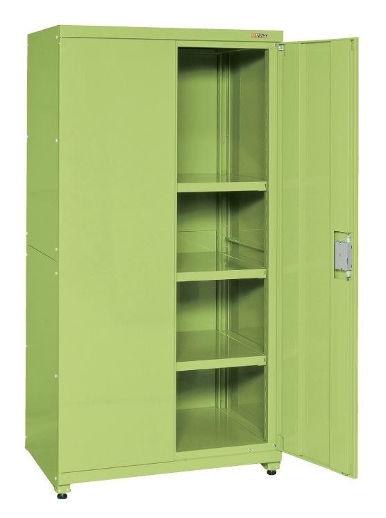 【直送】【代引不可】サカエ(SAKAE) パンチング保管庫 パンチングなし 900X640X1800 グリーン PNH-9063