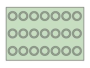 サカエ(SAKAE) ツーリングワゴン共通タイプホルダープレート 収納数(UT-40)21個 グリーン PTW-UT40PK