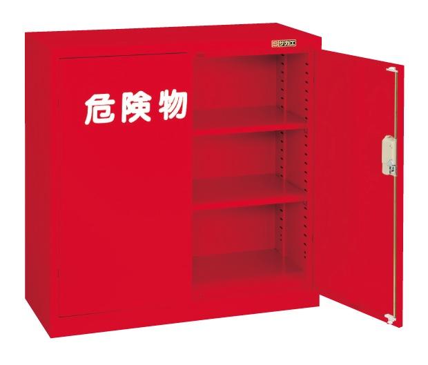【直送】【代引不可】サカエ(SAKAE) 危険物保管ロッカー 両開扉 棚板2枚 880X380X880 赤 R-330