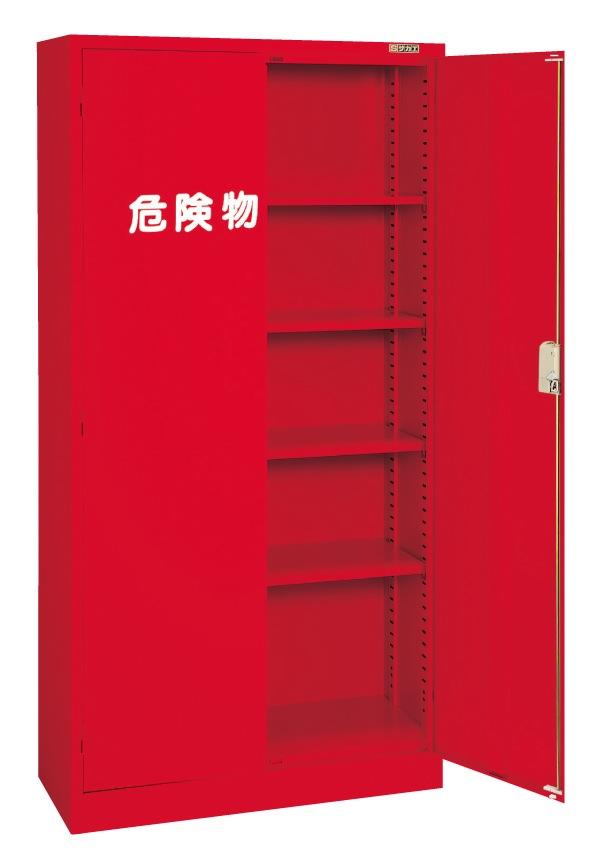 【直送】【代引不可】サカエ(SAKAE) 危険物保管ロッカー 両開扉 棚板4枚 880X380X1790 赤 R-360