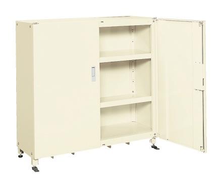 【直送】【代引不可】サカエ(SAKAE) スーパージャンボ保管庫 スチール扉 棚板耐荷重80kg 1220X450X1200 アイボリー SKS-124512I