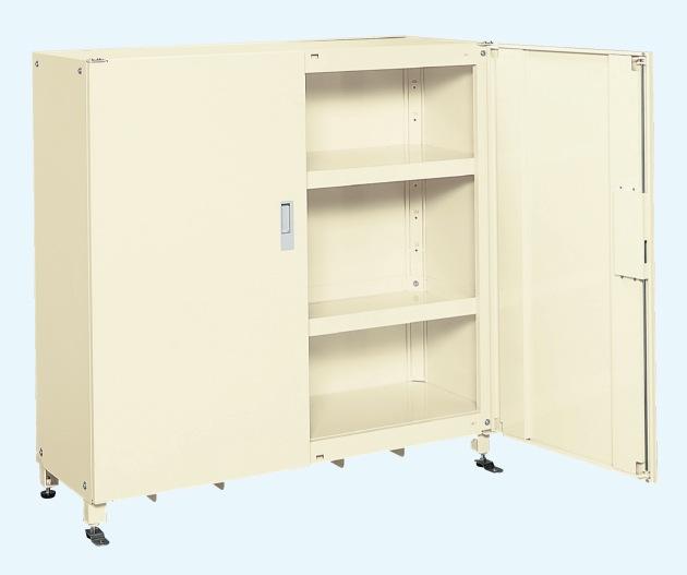 【直送】【代引不可】サカエ(SAKAE) スーパージャンボ保管庫 スチール扉 棚板耐荷重150kg 1220X520X1200 アイボリー SKS-125212MIK