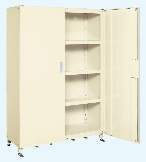 【直送】【代引不可】サカエ(SAKAE) スーパージャンボ保管庫 スチール扉 棚板耐荷重150kg 1220X520X1800 アイボリー SKS-125218MIK