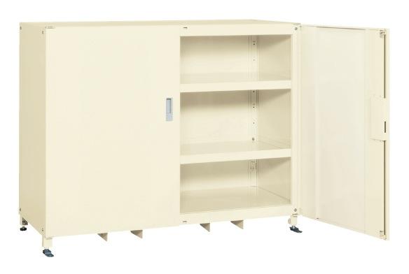【直送】【代引不可】サカエ(SAKAE) スーパージャンボ保管庫 スチール扉 棚板耐荷重150kg 1220X670X1200 アイボリー SKS-156712MI