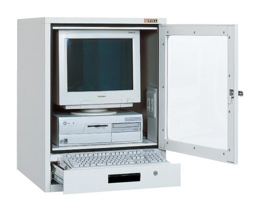 【直送】【代引不可】サカエ(SAKAE) パソコンキャビネット 600X650X790 グレー SPC-1TGY2