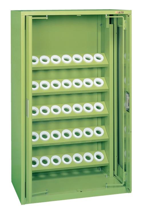 【直送】【代引不可】サカエ(SAKAE) ツーリングキャビネット(HSKタイプ) 前扉横収納式 小35個 900X450X1450 グリーン TLK-35A
