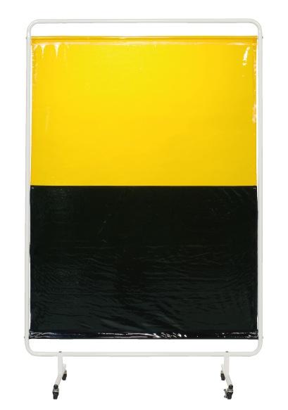 【直送】【代引不可】サカエ(SAKAE) 遮光スクリーン 移動式 1310X2057 ダークグリーン/イエロー YSH-13GYC