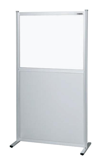 サカエ(SAKAE) パーティション(固定式・上透明塩ビ・下アルミ・単体) NAE-9018NT