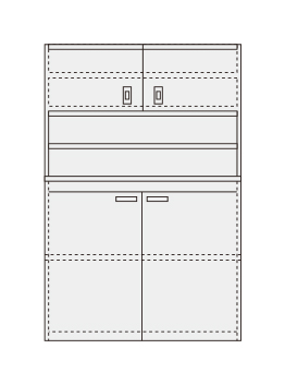 【直送】【代引不可】サカエ(SAKAE) ピットイン PN-H22DW