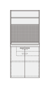 【直送】【代引不可】サカエ(SAKAE) ピットイン PN-H94PW
