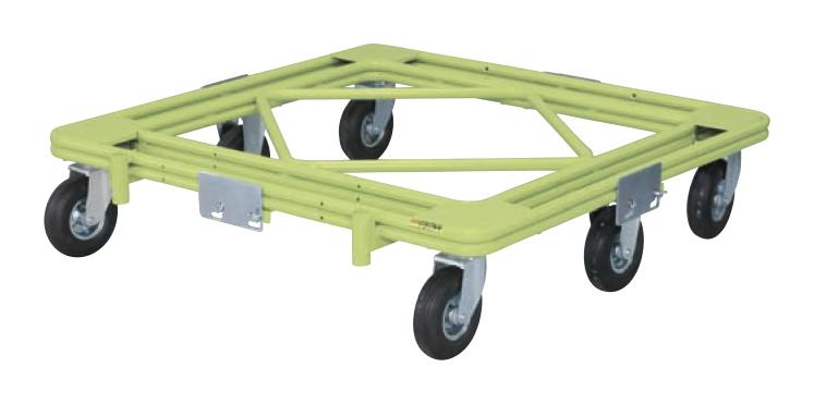 【直送】【代引不可】サカエ(SAKAE) 自在移動回転台車(空気入りタイヤ) RH-2AG