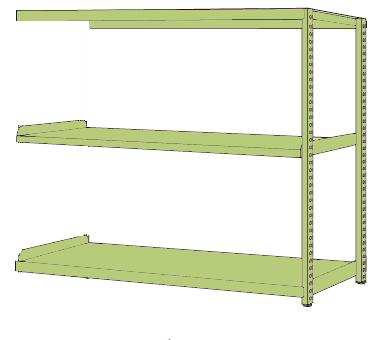 優先配送 【直送】【】サカエ(SAKAE) RKラック(連結・均等耐荷重:250kg/段・3段タイプ) 店 RKN-5653R:工具屋のプロ-DIY・工具
