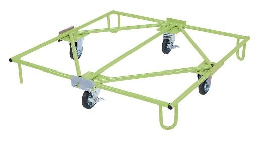 【直送】【代引不可】サカエ(SAKAE) 樹脂パレット台車(取手ナシタイプ) SC-110