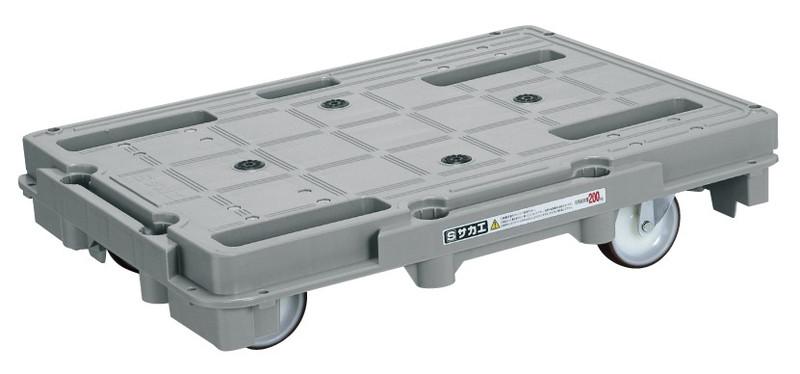 【直送】【代引不可】サカエ(SAKAE) 樹脂台車(スタッキング・連結仕様)4輪自在タイプ SCR-800NU