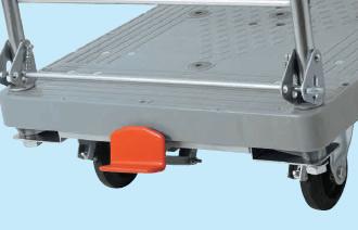 【直送】【代引不可】サカエ(SAKAE) 樹脂ハンドカー オプションフットブレーキ LHT-FBN
