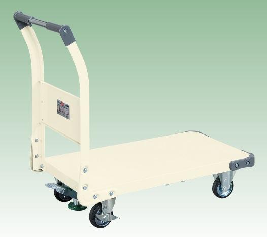 【直送】【代引不可】サカエ(SAKAE) 特製四輪車(固定ハンドルタイプ・フロアストッパー付) TAN-22FI