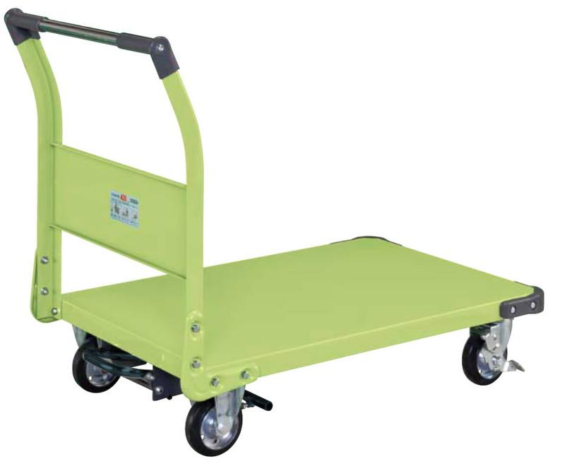 【直送】【代引不可】サカエ(SAKAE) 特製四輪車(固定ハンドルタイプ・フットブレーキ付) TAN-55BR