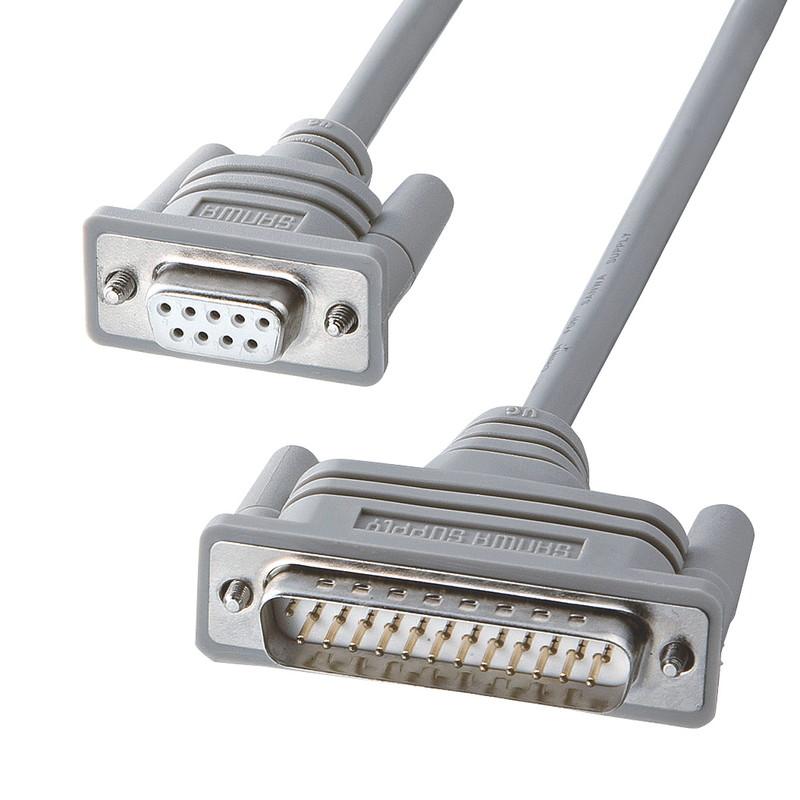 サンワサプライ RS-232Cケーブル クロス KRS-423XF-07K 超美品再入荷品質至上 0.75m オリジナル