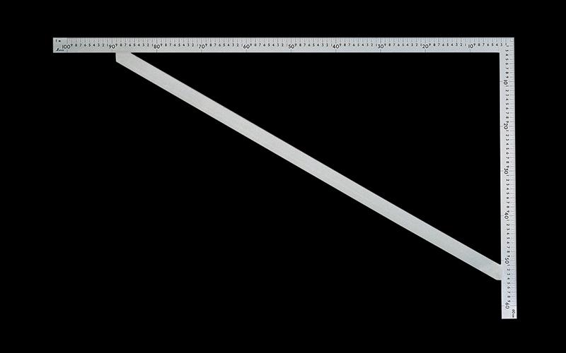 シンワ測定 曲尺筋交付大金 ステン1m×60cm 表裏同目 63121