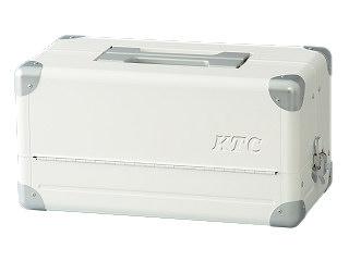 【SK19】KTC(京都機械工具) 両開きメタルケース ホワイト EK-1AWH