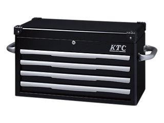 【直送・代引不可】【SK19】KTC(京都機械工具) トップチェスト 4段4引出し ブラック EKR-1004BK