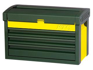 【SK19】KTC(京都機械工具) チェスト 3段3引出し ディープグリーン×イエロー EKR-103DGR