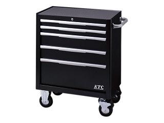 【直送・代引不可】【SK19】KTC(京都機械工具) ローラーキャビネット 5段5引出し ブラック EKW-1005BK