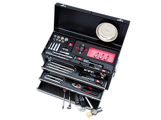 【SK19】KTC(京都機械工具) 工具セット チェストタイプ 9.5sq. 57点組 ブラック SK35719XBKTQ