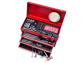 【SK19】KTC(京都機械工具) 工具セット チェストタイプ 9.5sq. 57点組 レッド SK35719XTQ
