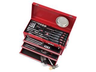 【直送・代引不可】【SK19】KTC(京都機械工具) 工具セット チェストタイプ 9.5sq. 68点組 レッド SK36819X