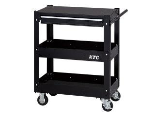 【直送・代引不可】【SK19】KTC(京都機械工具) ワゴン 3段1引出し ブラック SKX2613BK