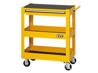 【直送・代引不可】【SK19】KTC(京都機械工具) ワゴン 3段1引出し イエロー SKX2613Y2