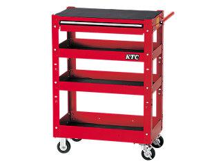 【直送・代引不可】【SK20】KTC(京都機械工具) ワゴン 4段1引出し レッド SKX2704ST