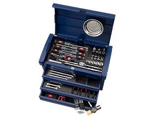 【直送・代引不可】 【SK20】KTC(京都機械工具) 工具セット チェストタイプ 68点組 9.5sq. シーベッドブルー SK36820ESBB