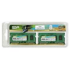 シリコンパワー Silicon Power SP008GLSTU160N22DA [SODIMM DDR3L PC3-12800 4GB 2枚組]※基本送料無料(沖縄・離島別)