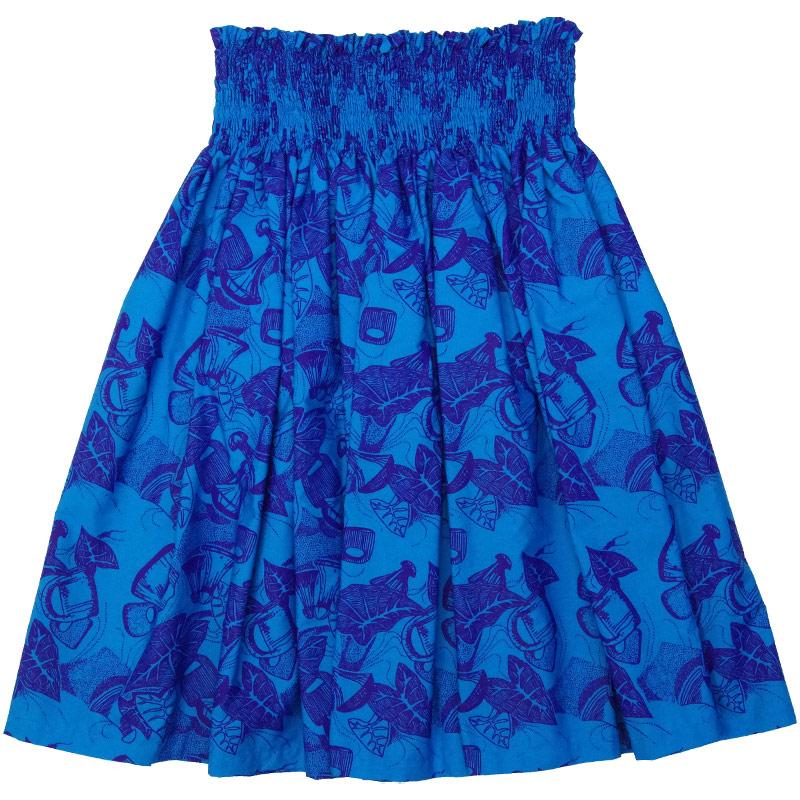 Nakeu Awai製生地使用シングル パウスカート≪総柄 ポイパウンダー柄 青×紫≫