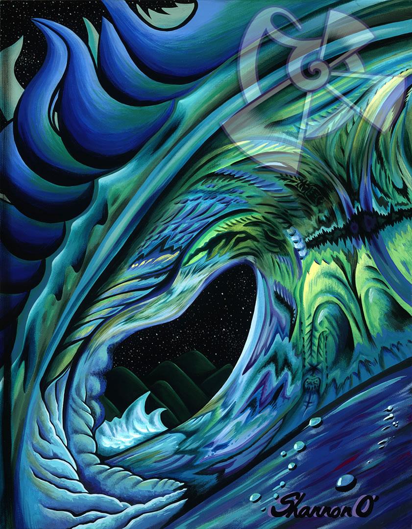 ハワイのサーフアート絵画 After Midnight (11