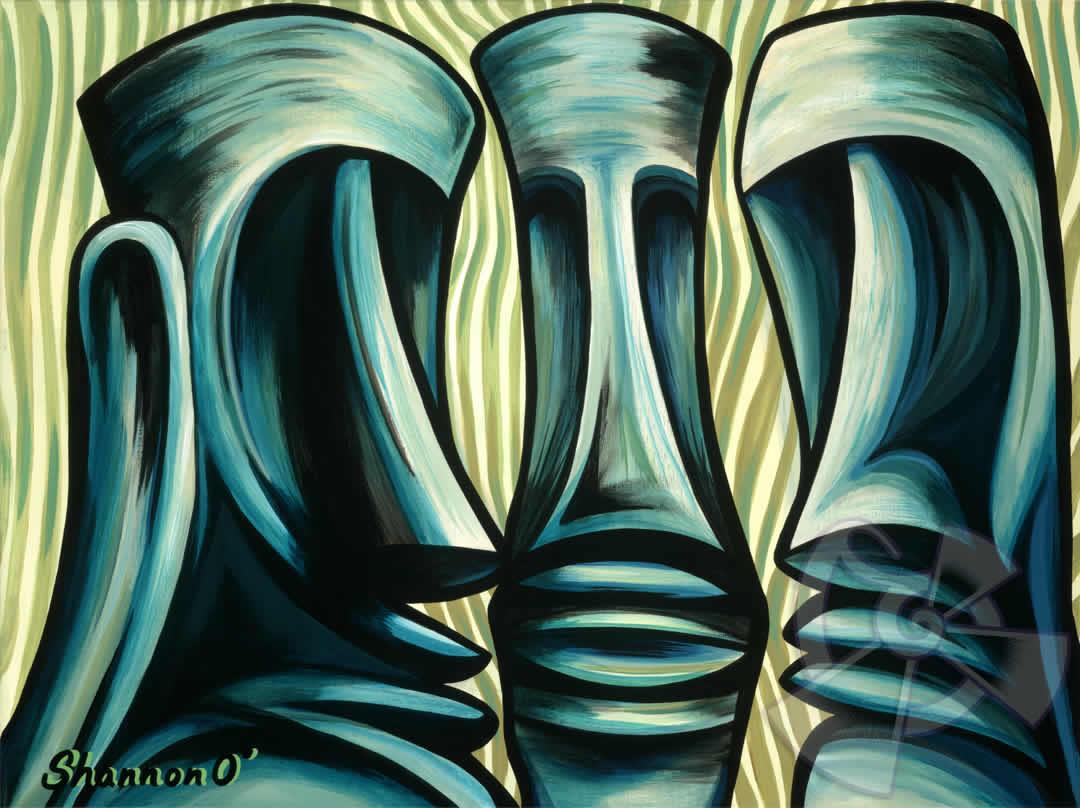 ハワイのサーフアート絵画 Tribal Council (11