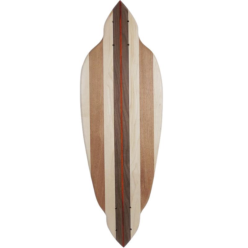 27インチCB無垢材組木ミニクルーザー・スケートボードデッキ(ハンドメイド【手作り】・アメリカ製)F