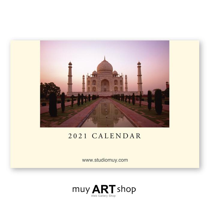 フォトグラファーが制作するARTカレンダー ポストカードサイズ 2021年名入れ卓上カレンダー 500部 蔵 永遠の定番 世界旅行 The オリジナル商品 World Tour DT01-21-500 148mm×100mm