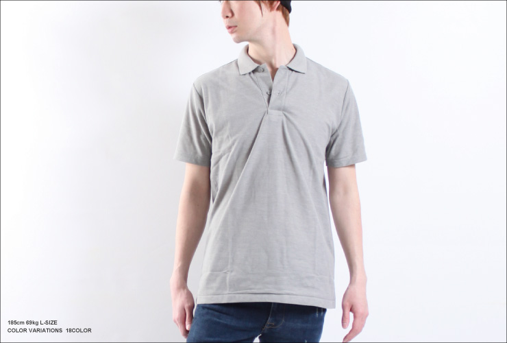 18 Color-rich color development staple カジュアルポロ t-shirt (SS-3 L)