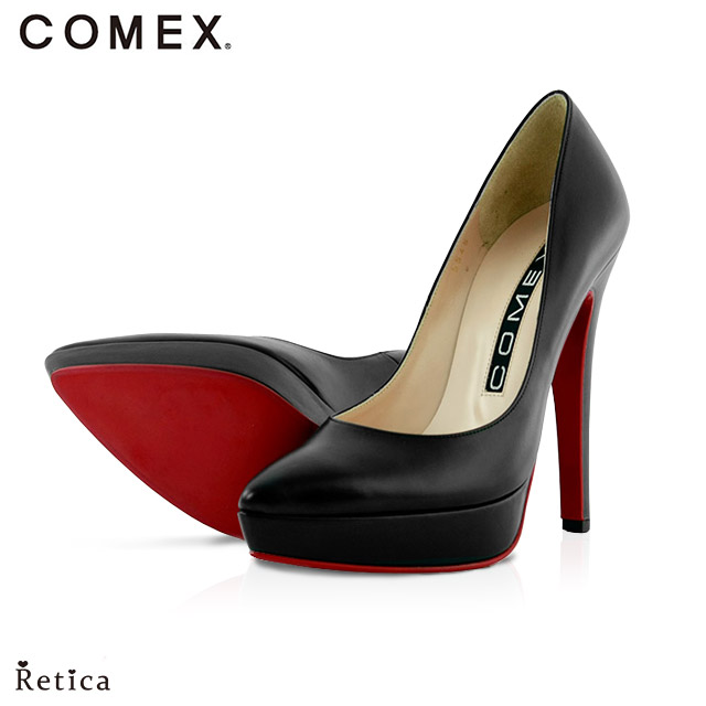 fbac47cf87eee あす楽 送料無料 COMEX コメックス シンプル ポインテッドトゥ レザー パンプス シューズ レディース 靴 結婚