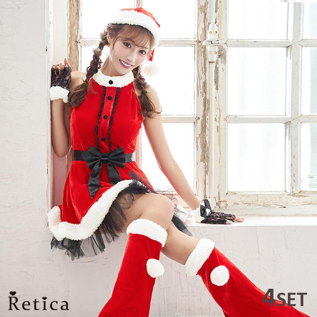 あす楽 サンタ コスプレ レディース サンタコス サンタコスプレ 衣装 クリスマス ワンピース サンタ帽 手袋 レッグウオーマー セクシー レッド サンタ帽 クリスマスパーティー ワンピース 大きいサイズ