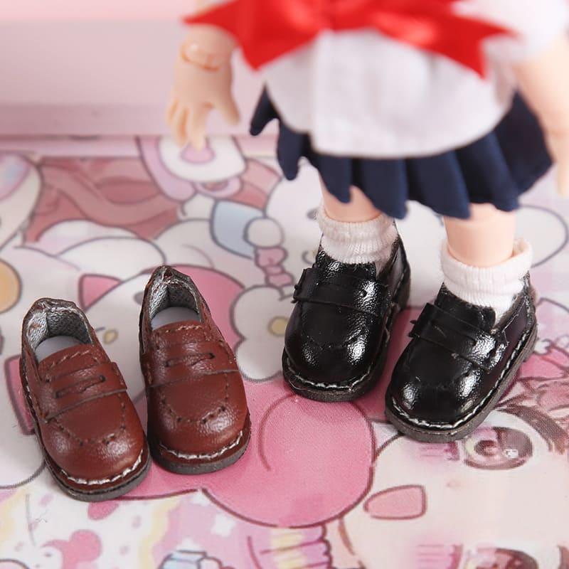 オビツ11 ドール 人形 靴 シューズ ローファー 革靴 ブラウン 割り引き ねんどろいど 11cm ブラック 人形靴 オビツ 安い 人形用靴 ob11 オビツろいど