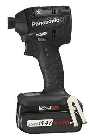 【パナソニック】 充電インパクトドライバー EZ75A7LS2F-B(黒) 14.4V 4.2Ah電池2個・充電器・ケース付 【Panasonic】
