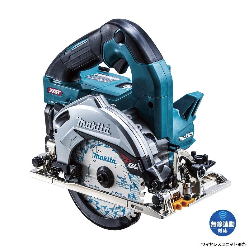 HS006GRDX 【マキタ】40V 125mm 2.5Ahバッテリ×2個・充電器・ケース・鮫肌チップソー付 [無線連動対応]【makita】 (青) 充電式マルノコ