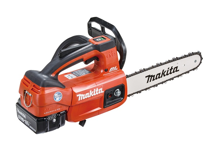 ◆【マキタ】 18V 充電式チェンソー MUC254DGXR(赤) ガイドバー250mm 6.0Ahバッテリ2本・充電器付 【makita】