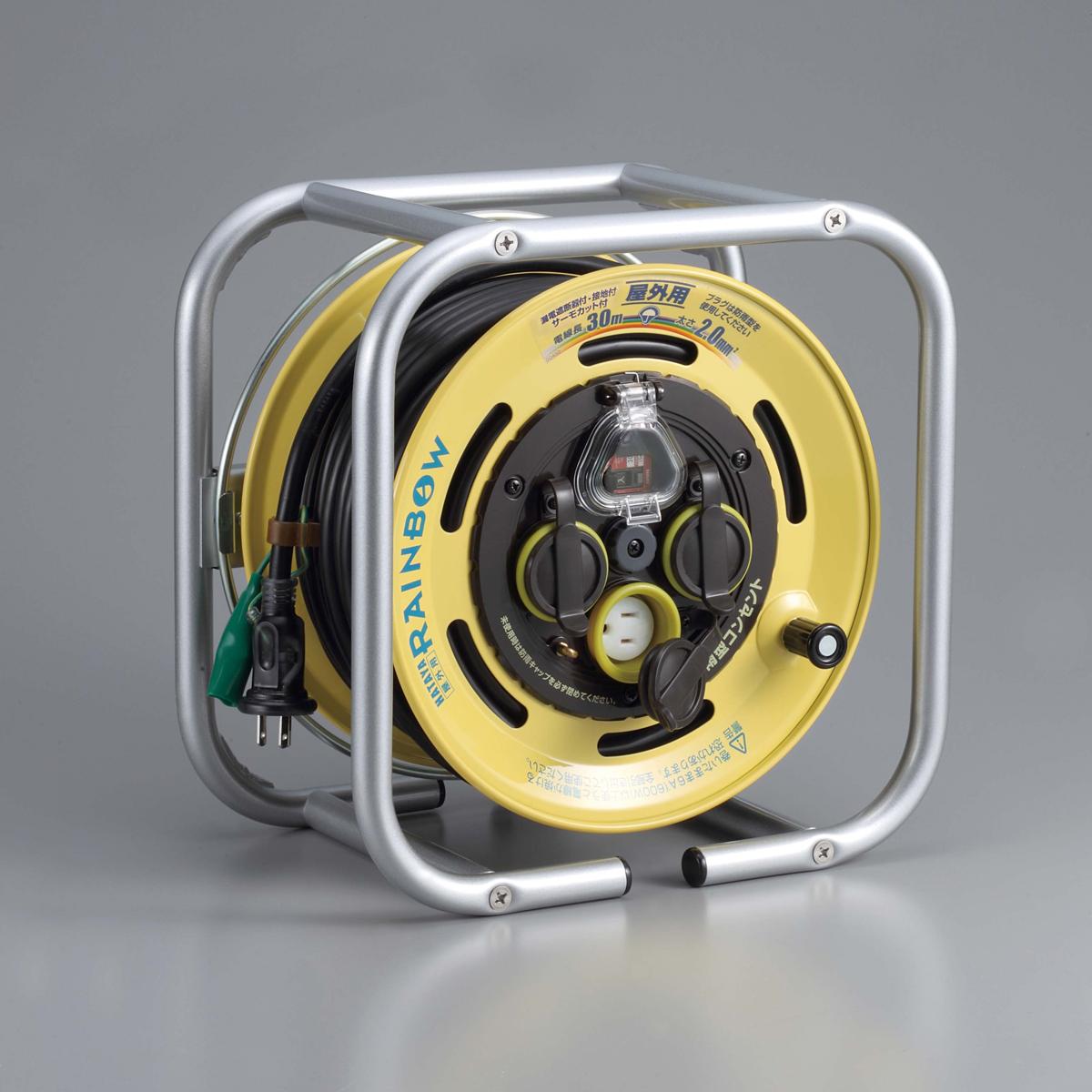 おすすめ ハタヤ DSBE-30KC 段積みリール ケーブルタイプ 接地付 漏電遮断器付 出荷 温度センサー付