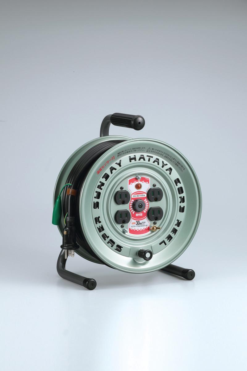 ハタヤ GV-301KS スーパーサンデーリール(温度センサー付) 30m 接地付